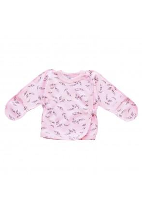 Детская распашонка Minikin арт. 00103 розовый/серый