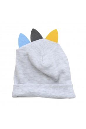 Шапочка для детей Minikin арт. 211903 серый меланж