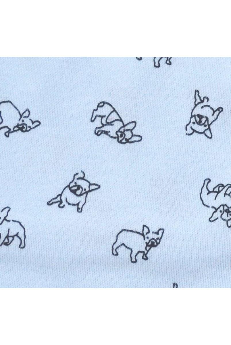 Ползунки для детей Minikin арт. 00203 голубой собачка