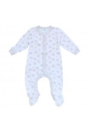 Комбинезон для детей Minikin арт. 215503 белый/серый