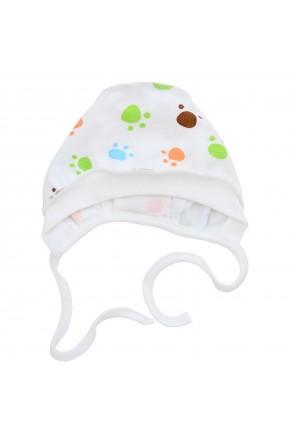 Шапочка чепчик для детей Minikin арт. 208903 белый лапки