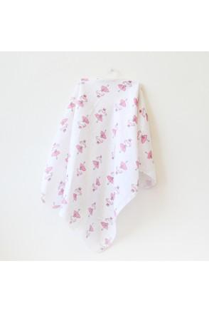Муслиновая пеленка для детей Minikin арт. 190814 молочный/розовый
