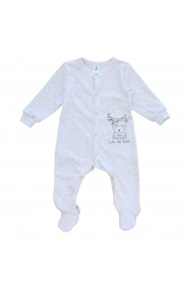 Комбінезон для дітей Minikin арт. 215503 сірий/меланж