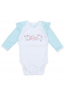 Боді для дітей Minikin арт. 204703 молочний/бірюзовий