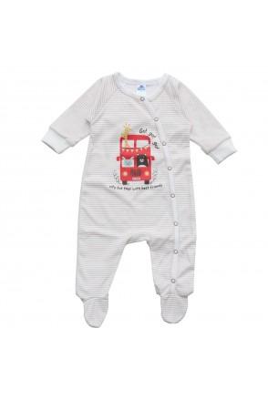 Комбинезон для детей Minikin арт. 205703 полоса/молочный