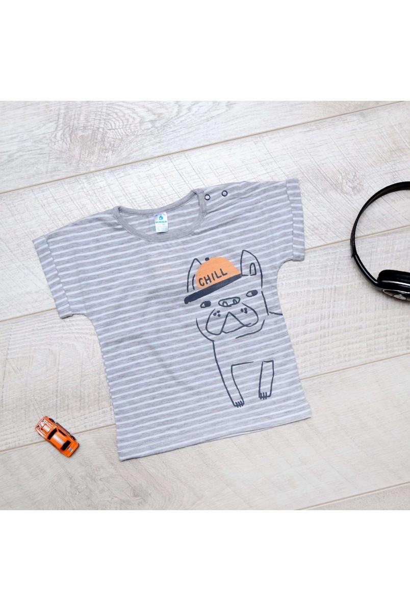 Футболка для детей Minikin арт. 202902 серый полоска