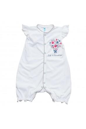Напівкомбінезон дитячий Minikin 203502 молочний