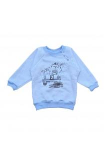 Свитшот для детей Minikin арт. 2012313 синий/серый