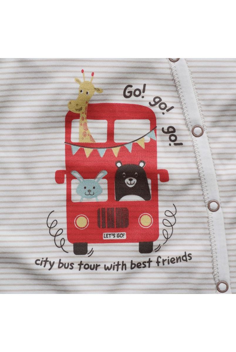 Комбінезон для дітей Minikin арт. 205703 смужка/молочний
