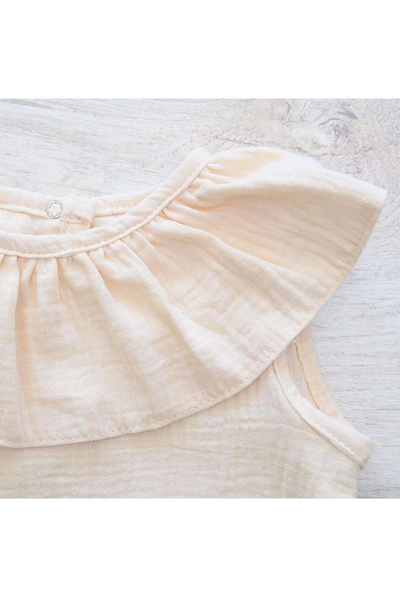 Напівкомбінезон дитячий мусліновий Minikin 2010514 молочний