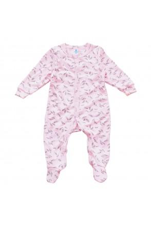 Комбинезон для детей арт. Minikin 00403 розовый/серый