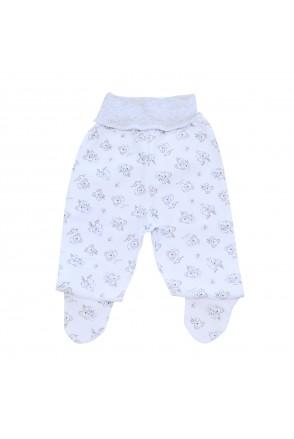 Ползунки для детей Minikin арт. 215203 белый/серый