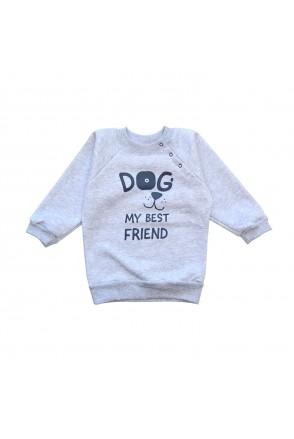 Свитшот для детей Minikin арт. 2012313 серый меланж