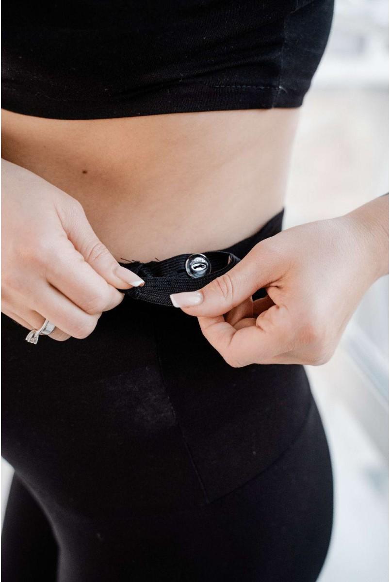 Легінсі 3052041-3 Чорний Для вагітних