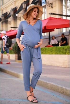 Комбинезон 4157019 синий для беременных и кормления