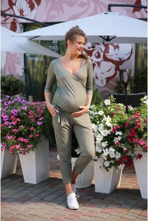 Комбинезон 4157019 хаки для беременных и кормления