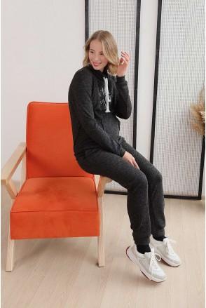 Спортивный костюм 4143057-53 черный для беременных и кормления