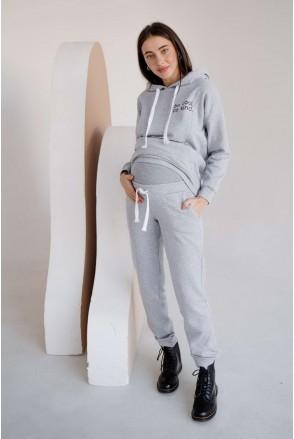 Спортивный костюм 4218115-72 серый меланж для беременных и кормления