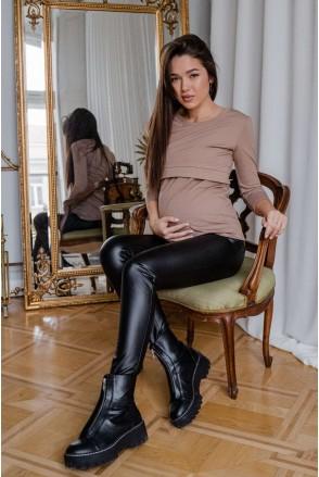 Брюки (леггинсы) 4221221-4 черный для беременных
