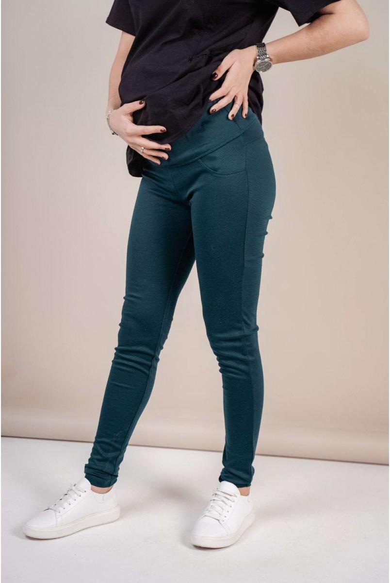 Штани (легінси) 1082043-5 зелений для вагітних