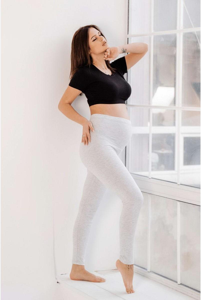 Легінси 3052041-3 сірий меланж Для вагітних