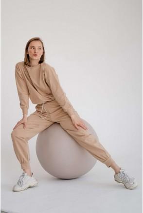 Спортивный костюм 4301262 бежевый для беременных и кормления