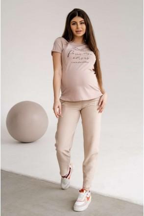 Брюки 1153732 кремовый для беременных