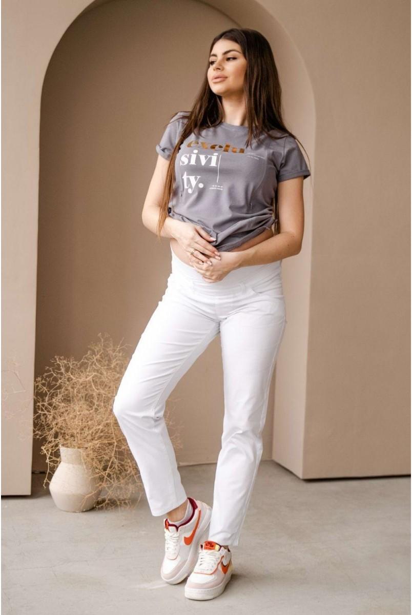 Брюки 1172733-7 белый для беременных