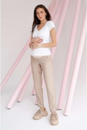 Брюки 1153732 бежевый для беременных