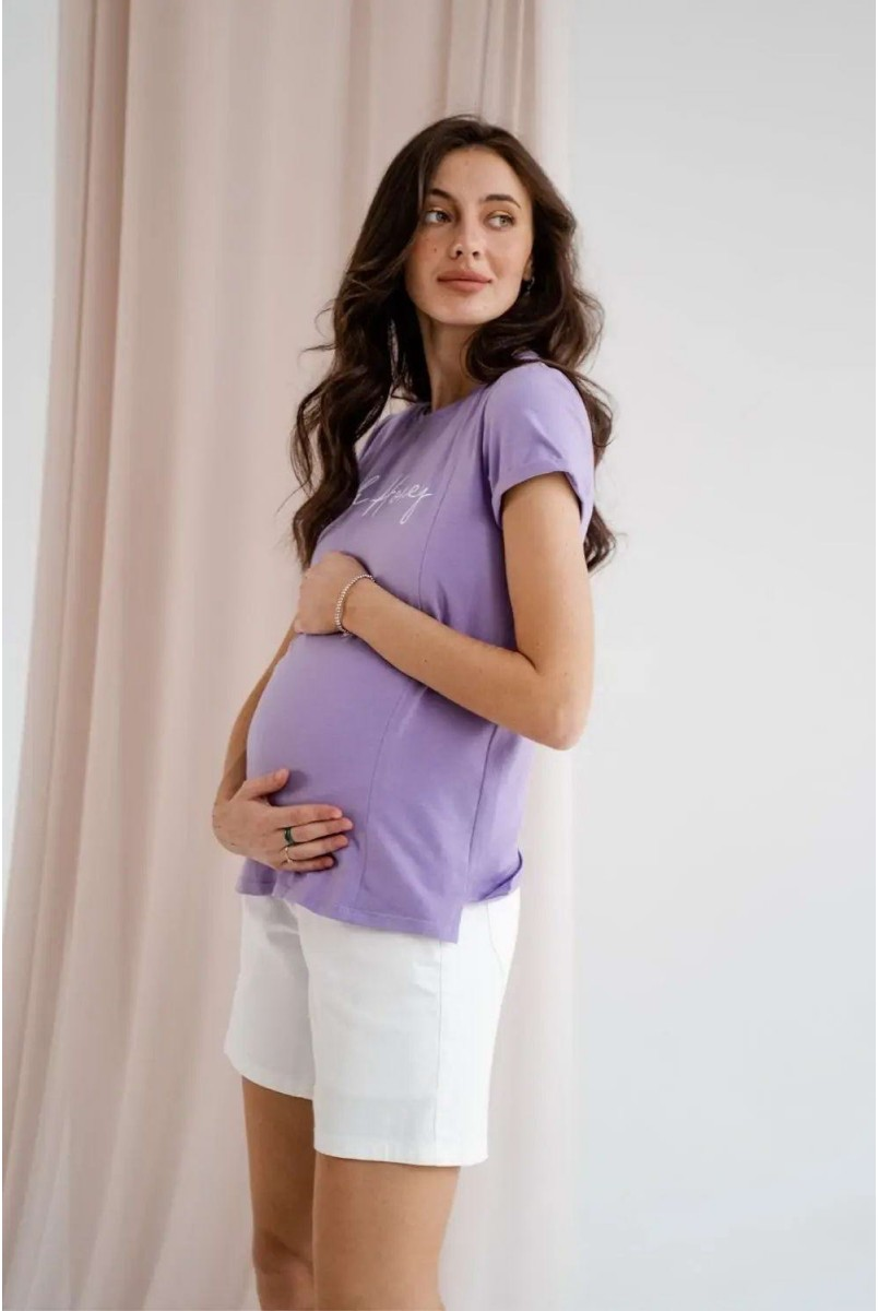 Шорты джинсовые для беременных To be 4174492 кремовый