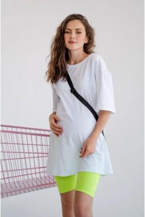 Леггинсы (велосипедки) для беременных To be 4258041-1 салатовый неон
