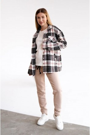 Теплые спортивные брюки для беременных To be 4040115-4 бежевый