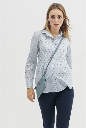 Блуза 1308224 серый-цветочек для беременных