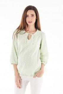 Блуза 704073 салатовий для вагітних