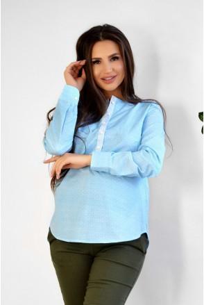 Блуза 1707224 небесно-голубой для беременных и кормления