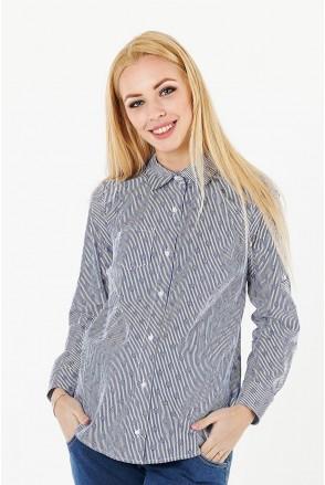 Блуза 1379224 синий для беременных и кормления