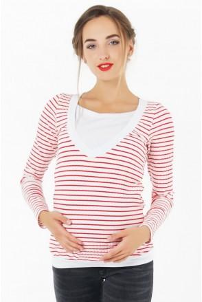 Джемпер 4034525 червоний для вагітних і годування