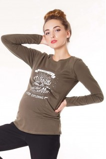 Джемпер 4020041-45 хаки для беременных