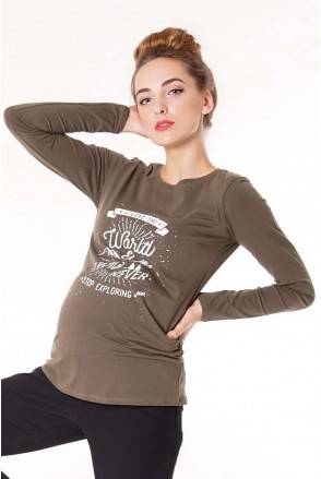 Джемпер 4020041-45 хакі для вагітних