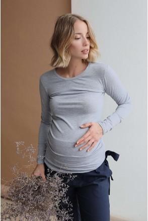 Джемпер 4024060 сірий меланж утеплений для вагітних