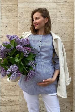 Блуза 4317737 серый для беременных и кормления