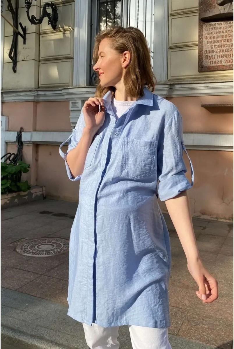 Блуза (рубашка) для беременных To be 1268741 голубой