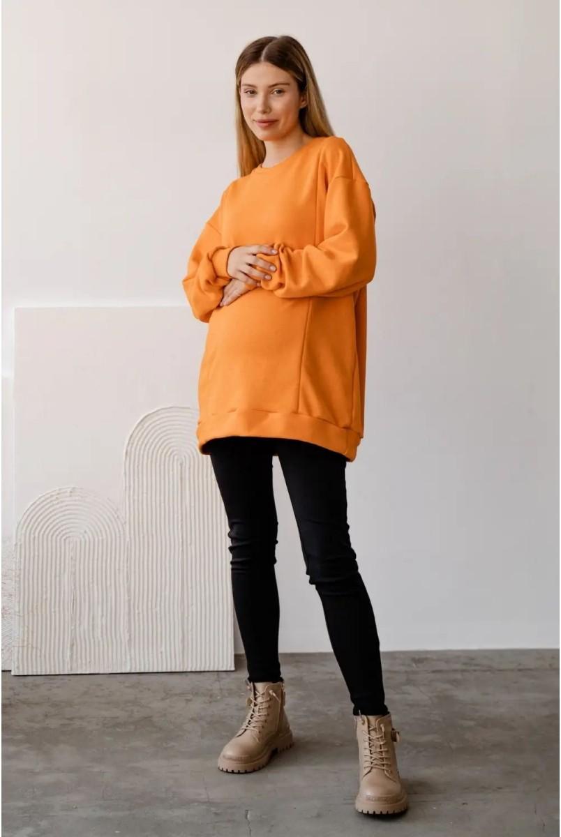 Свитшот для беременных и кормления To be 4355114 оранжевый