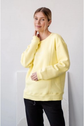 Свитшот для беременных и кормления To be 4362115-78 лимонный