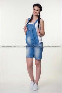 Полукомбінезон-шорти джинсовий арт. 1137629 синій варка 1 рванка для вагітних