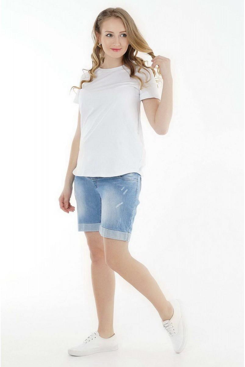 Шорти джинсові арт. 1028629-11 темний денім для вагітних