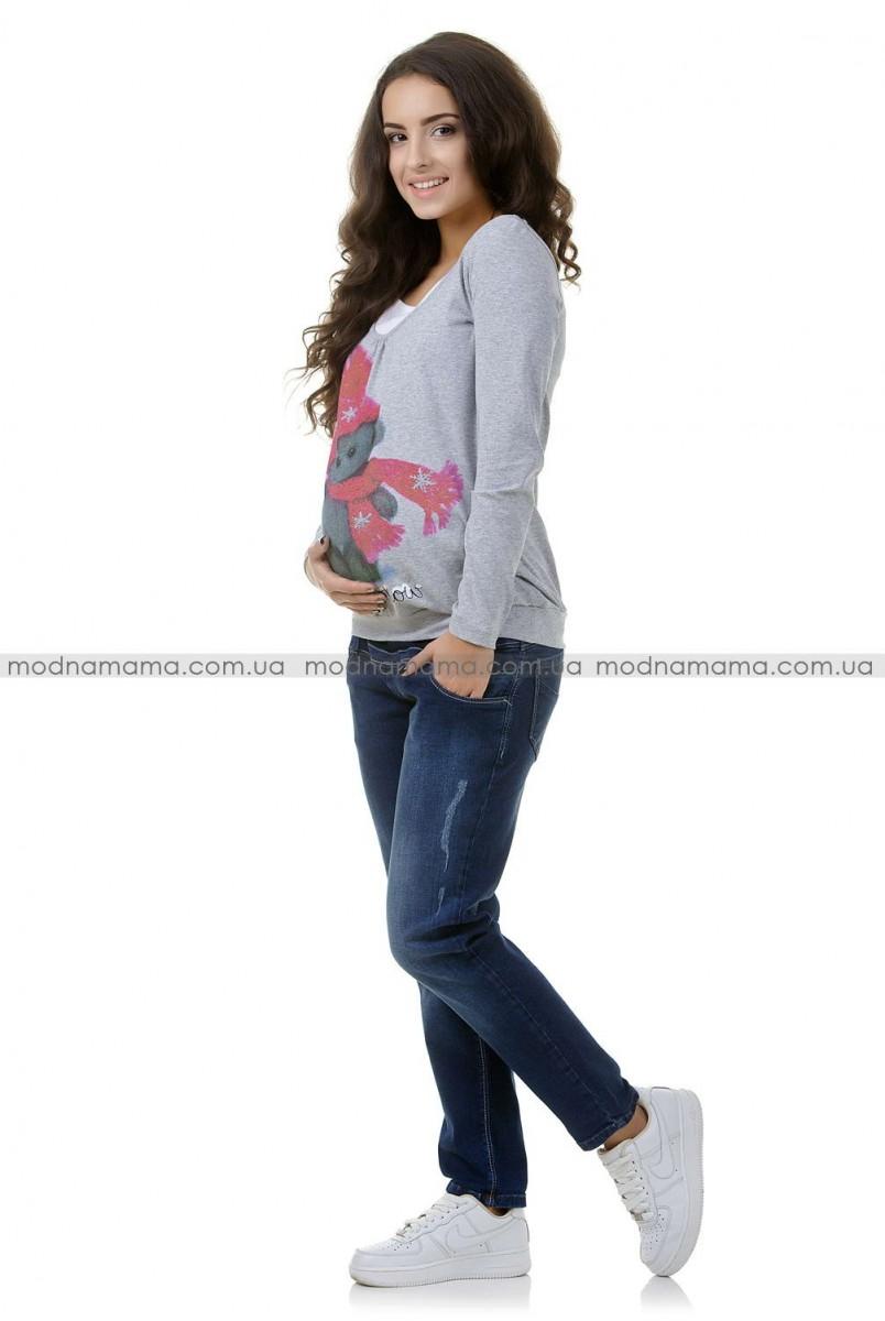 Джинсы арт. 852583 синий/варка 2 для беременных