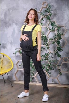 Полукомбинезон 1266690 черный варка Софт для беременных