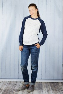 Брюки джинсовые бойфренды 1218631-6 для беременных