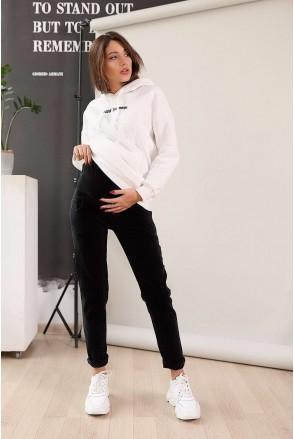 Джинси арт. 3088459 чорний ензими для вагітних
